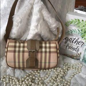 Authentic Burberry pink nova check bag